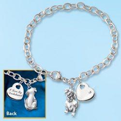 Loyal Companion Keepsake Dog Charm Bracelet