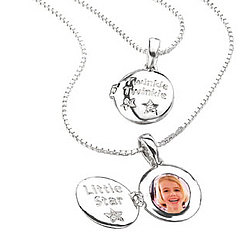 Little Girls Silver Diamond Twinkle, Twinkle Locket Pendant