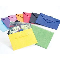 Lizard Embossed Leather Photo Envelope