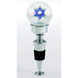 Star of David Snowglobe Bottle Topper