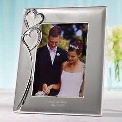 Twin Hearts Wedding Photo Frame