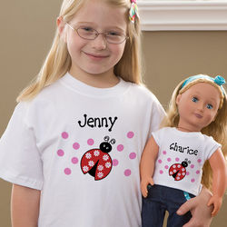 Personalized Girl's T-Shirt and Doll T-Shirt Set