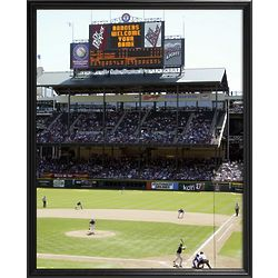 Texas Rangers Personalized Scoreboard 11x14 Framed Canvas