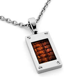 Leather and Titanium Necklace
