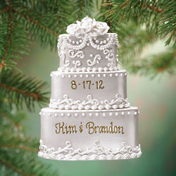 Personalized Wedding Cake Ornament