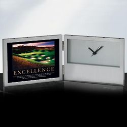Excellence Golf Desk Clock