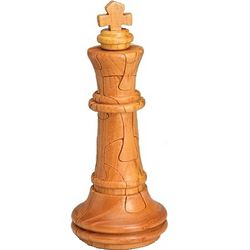 Wooden Chess King 3D Jigsaw Puzzle
