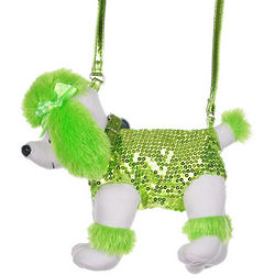 Sequin Poodle Purse