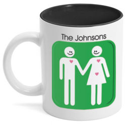 Happy Couple Expecting Personalized Mug