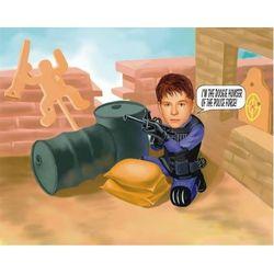 Paintballer Custom Photo Caricature Print