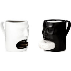 Black and White Face Mugs