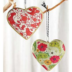 Milagro Heart Ornaments