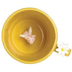 When Pigs Fly Yellow Mug