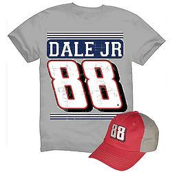 Dale Earnhardt Jr. #88 T-Shirt and Cap