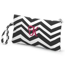 Black Chevron Clutch