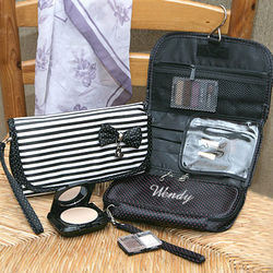 Personalized Hanging Make-Up Bag with Bow