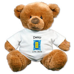 Personalized Happy Father's Day Teddy Bear