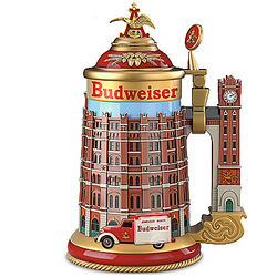 Budweiser Brew House Stein with Clock Tower Handle