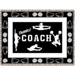 Personalized Cheerleader Coach Afghan