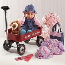 Doll, Wagon & Puppy Gift Set