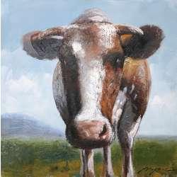 Oversized Bull Painting