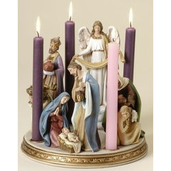 Nativity Scene Advent Wreath