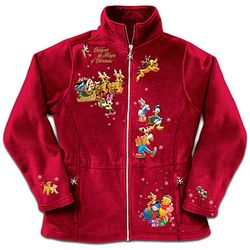 "Disney ""Magic Of Christmas"" Character Fleece Jacket"