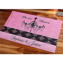 Dorm Divas Personalized Doormat for Girls Dorm