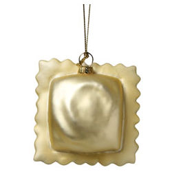 Glass and Resin Ravioli Ornament