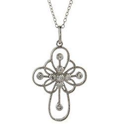 Ornate Sterling Silver Cross Pendant