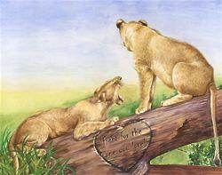 Grassland Romance Lion Print