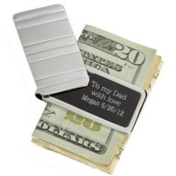 Hidden Message Money Clip for Father of the Bride