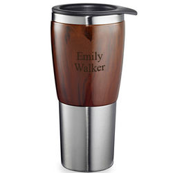 Burl Wood Stainless Steel Executive Office Tumbler