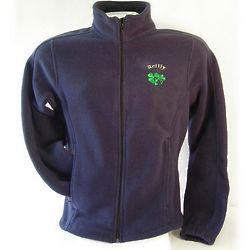 Personalized Women's Fitted Full Zip Shamrock Jacket