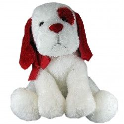 "14"" Red & White Casanova Plush Puppy"