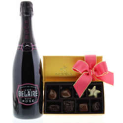 Sparkling Rose Wine and Godiva Chocolates Gift Set