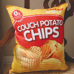Potato Chips Couch Potato Pillow
