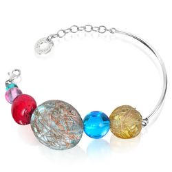 Graffiti Murano Glass Bracelet