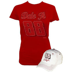 Lady's Dale Earnhardt Jr. #88 T-Shirt and Cap