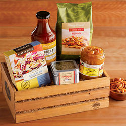Gourmet BBQ Grilling Crate Gift Basket