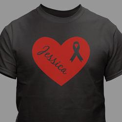 Personalized Heart Ribbon T-Shirt