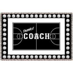 Personalized Basketball Coach Afghan