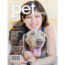 Personalized Pet Magazine Cover