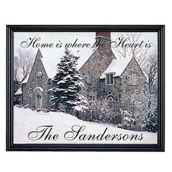 "Personalized ""Home is Where the Heart Is"" Canvas"