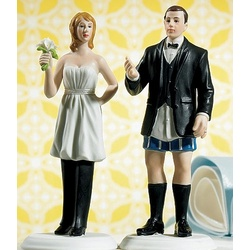 Bride in Charge or Groom Not in Charge Wedding Cake Topper