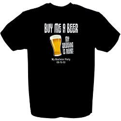 Buy Me A Beer Groom To Be T-Shirt