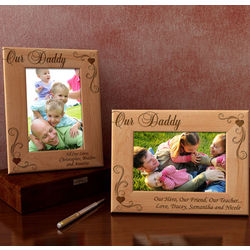 Personalized Our Daddy Wooden Picture Frame
