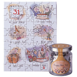 New Year Jigsaw Card
