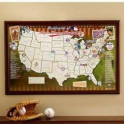 Personalized Major League Baseball Stadium Map