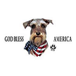 God Bless America Schnauzer T-Shirt